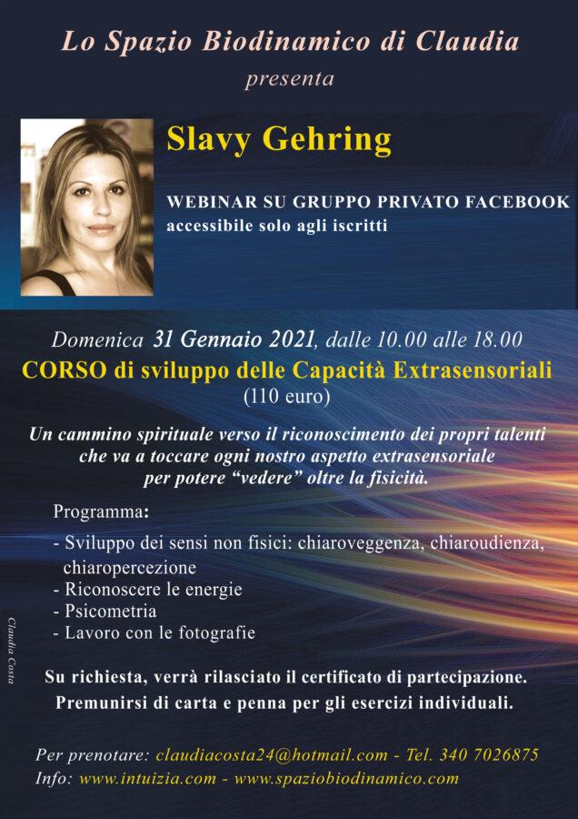 Corso di parapsicologia con Slavy Gehring