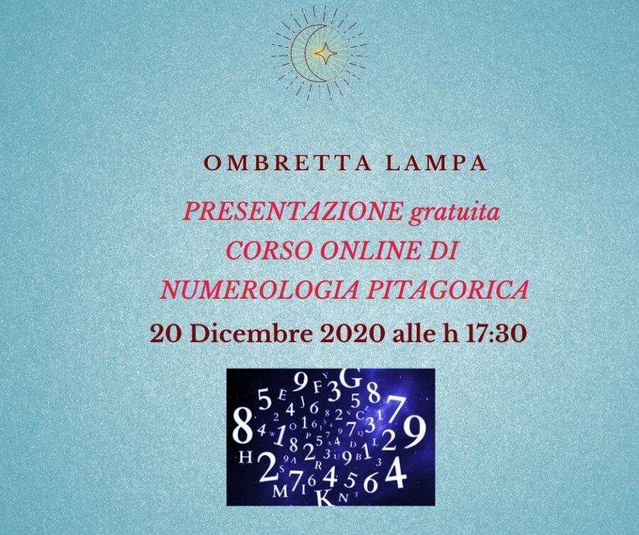 Presentazione gratuita corso Numerologia